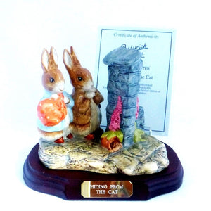 Beswick Limited Edition Beatrix Potter Figurine - Hiding From The Cat (Boxed)