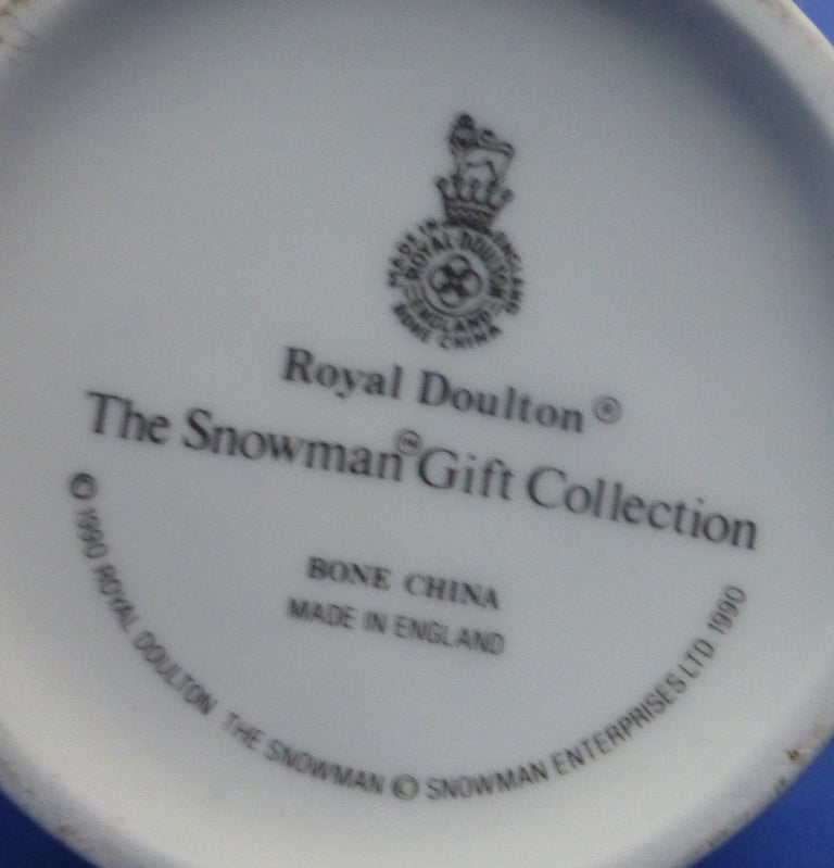 Royal Doulton Snowman Small Ginger Jar - (Boxed)