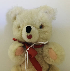 Vintage Wool Jointed Bear. Shanghai Doll Factory. 6""