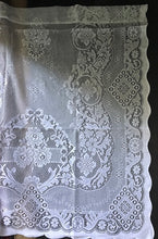 """Jessica"" Victorian Style Cream Cotton Lace Curtain Panel Ready To Hang - 36"" x 36"" 90 x 91cms"