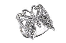 Silver Marcasite Butterfly ring