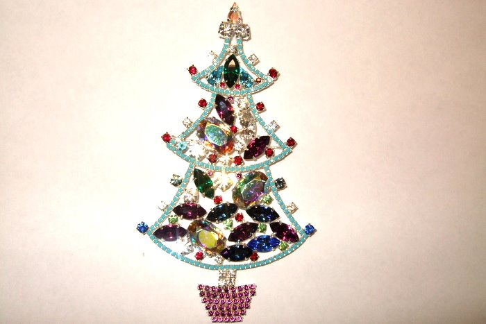 Extra Large Christmas Tree Brooch
