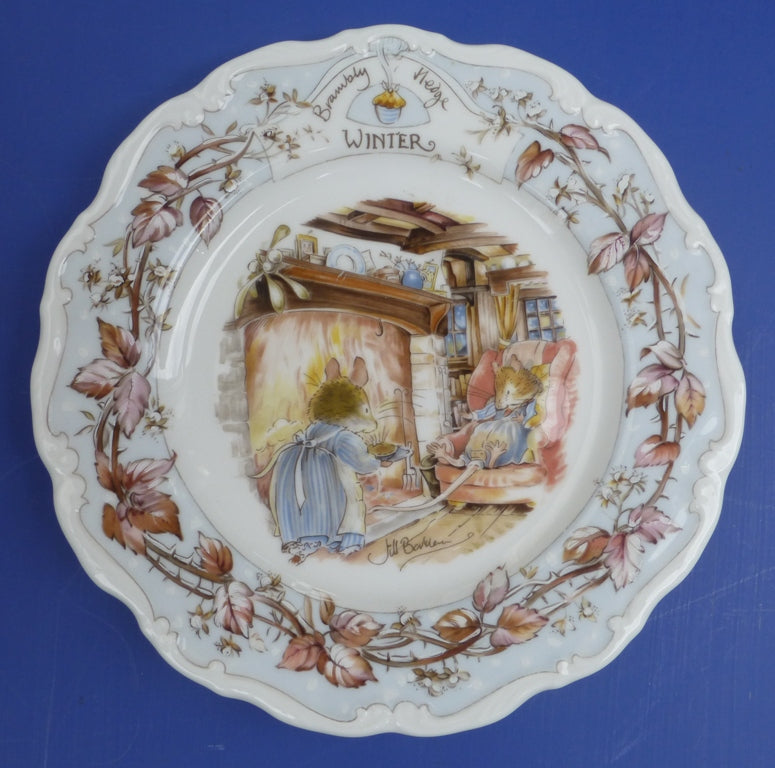 Royal Doulton Brambly Hedge Seasons Wall Plate - Winter