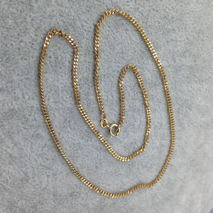 Good quality 9ct gold bright cut curb link chain necklace
