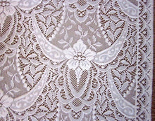 "Victorianna rose cream cotton lace panellingper metre 54"" wide"