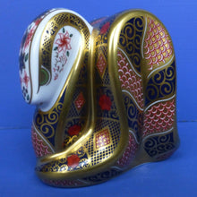 Royal Crown Derby Paperweight - Old Imari Snake (Boxed)