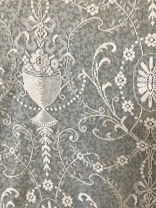 Beautiful cream Period design Lace Curtain Panelling REmnant 170/150cms