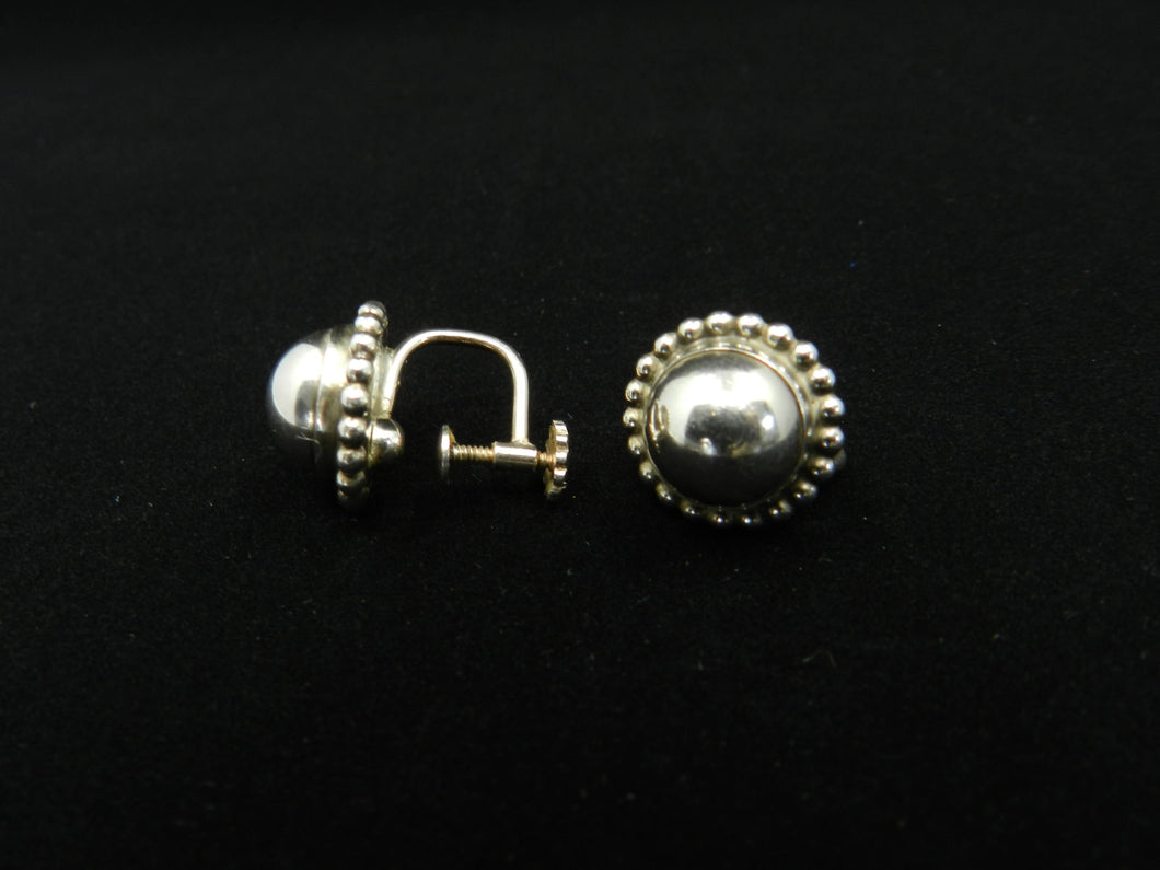 Georg Jensen Silver Earrings No 79