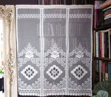 "2 x Victorianna heritage 22""/54"" white cotton lace panels"