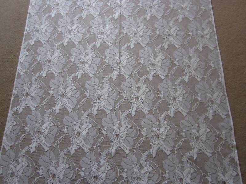 """Clematis"" Period Cream lace panelling Metre 100"" wide"