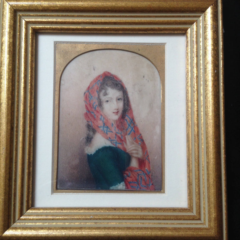 Early Victorian miniature of Margaret Carnegie