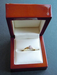 9ct gold and .2 carat diamond engagement ring