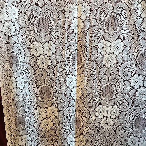"Marthe victorian design wide Cotton Lace Curtain Panelling ByWidth 90"" 230cms"