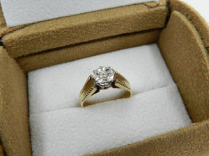 Diamond Solitaire Ring Gold