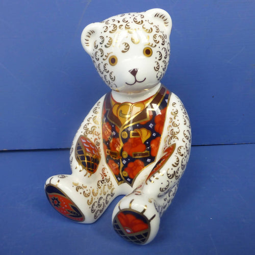 Royal Crown Derby Paperweight Debonair Bear (Boxed)