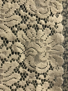 "Serena cream cotton lace panelling off the roll available per metre 48"" wide 120cms"