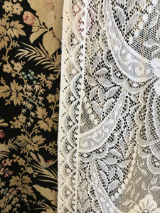 "Victorianna Rose cotton white lace panelling available off the roll per metre 52"" width"