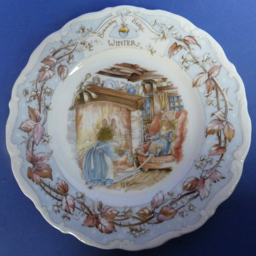 Royal Doulton Brambly Hedge Tea Plate Winter