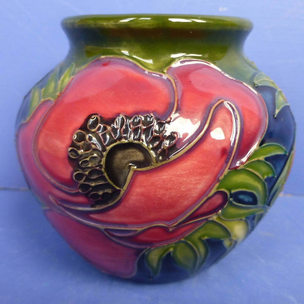 Moorcroft Vase - A Tribute To Anemone by Emma Bossons