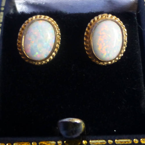9ct Gold Opalite Earrings