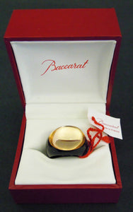 Baccarat crystal cabochon ring, size N½