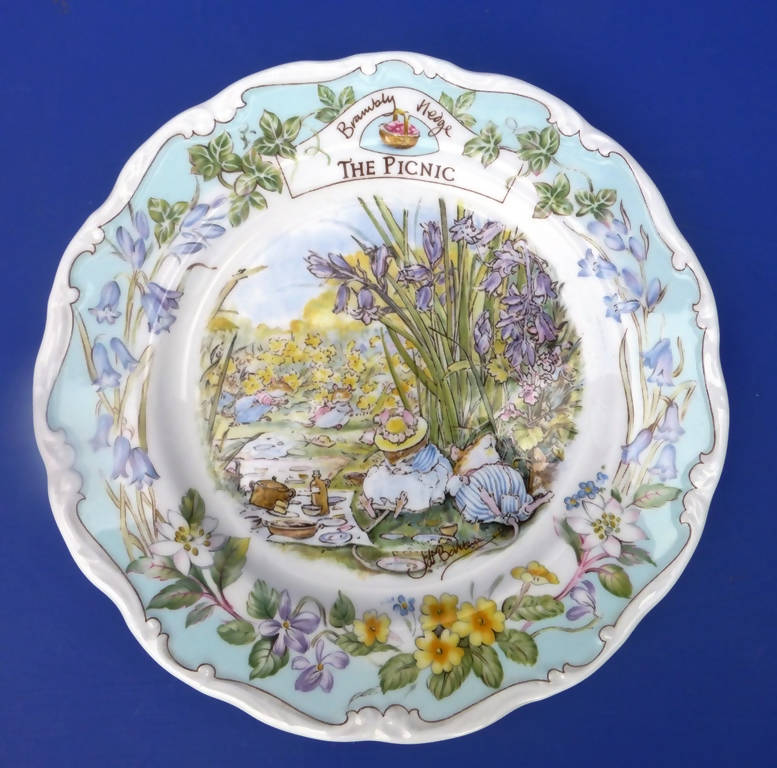 Royal Doulton Brambly Hedge Plate - The Picnic from the series by Jill Barklem