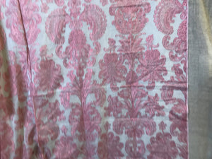 "Anne Marie Chateau red madras lace panel to finish 68""/60"""