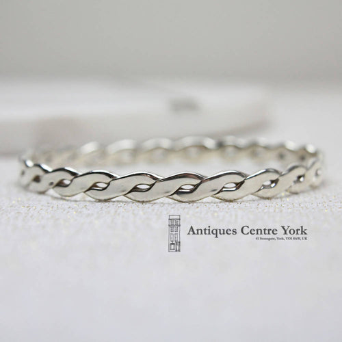 Solid Silver Plaited Bangle