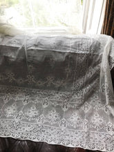 "Victorian design ivory cotton lace curtain 58""/90"""