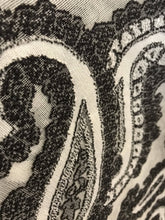 "Striking contemporary Paisley Black Cotton madras Lace Curtain Panel 66""/120"""