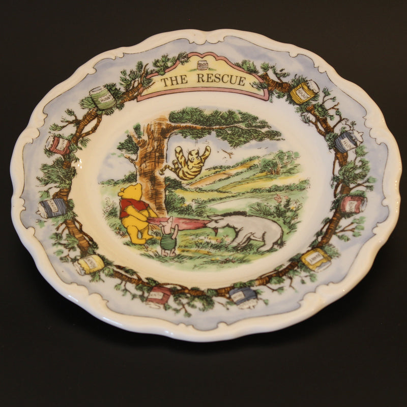 "Royal Doulton Winnie the Pooh ""The Rescue"" Plate"