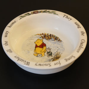 "Royal Doulton Winnie the Pooh bowl ""they sang the outdoor song for snowy weather all the way home"""
