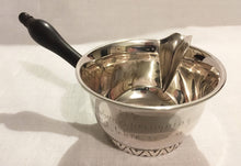 Danish 830 silver sauce pot. Assay marks for Christian Heise 1939.