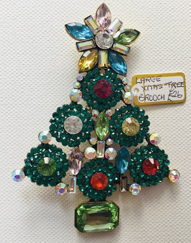Large Christmas Tree Brooch