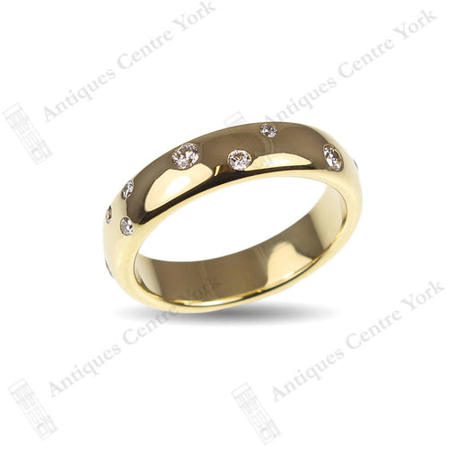 18ct Gold & Diamond Wedding Band