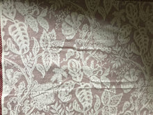 "Jacobean toile Ivory cotton curtaining 68""/36"""