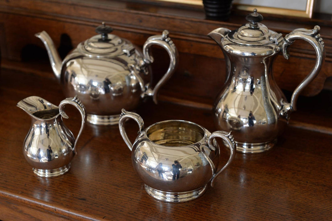 Hawksworth, Eyre & Co coffee elecroplated tea and coffee set