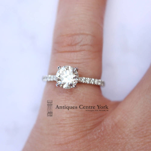 18ct White Gold Certified 1.14cts Diamond Solitaire Ring