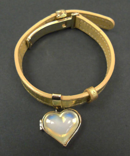 Lalique crystal Heart catcher bracelet boxed 19L015d