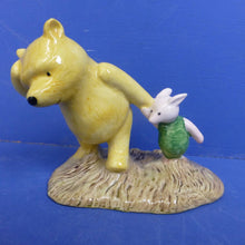 Royal Doulton Winnie The Pooh Figurine Pooh and Piglet The Windy Day WP2 (70th Anniversary Backstamp) (Boxed)