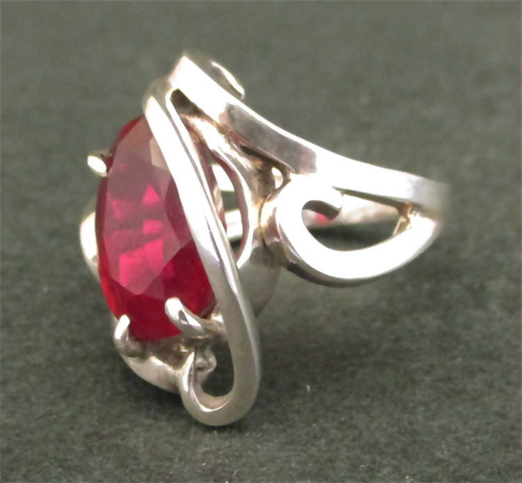 Jake: 7.8carat Ruby silver ring