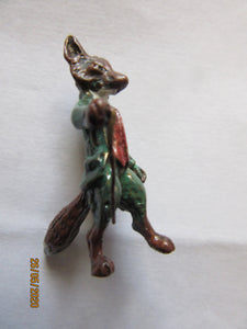 Austrian Style Cold Painted Bronze Beatrix Potter's Anthropomorphic Mr Fox