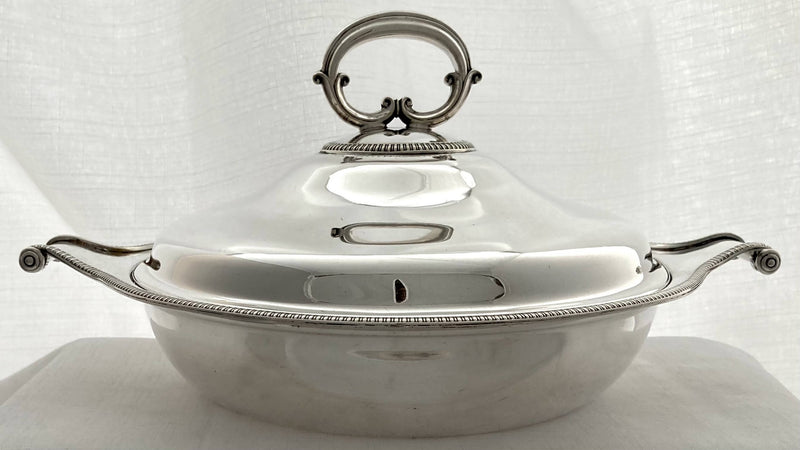 Early 20th Century Silver Plated Vegetable Tureen. Asprey of London, circa 1920.