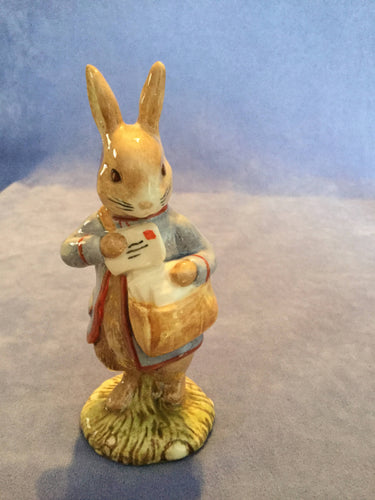 Royal Albert Peter Rabbit with postbag Beatrix Potter Figure