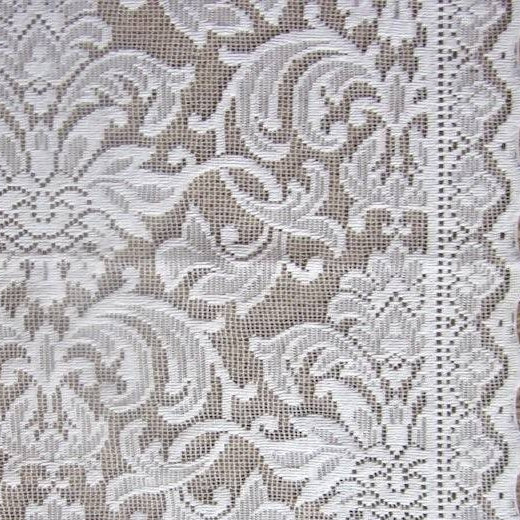 "Victorian Style Ivory Curtain Panel readymade 54""/62"""