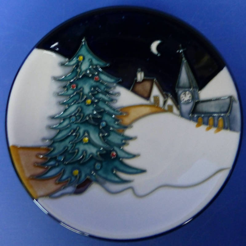 Moorcroft Tray / Coaster New Moon By Sian Leeper (Boxed)
