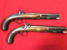 Cased pair of 19th Century Percussion Cap Duelling / Officer's Pistols by William Chance & Son, London.
