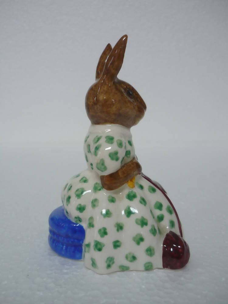 A Royal Doulton Bunnykins Figurine Busy Needles DB 10 - In Excellent Condition