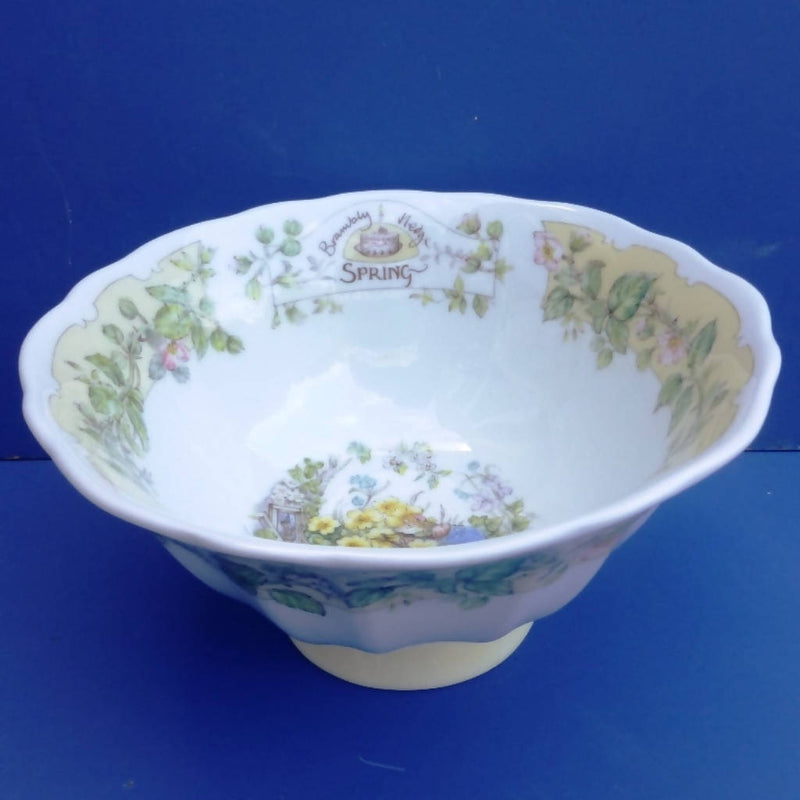 Royal Doulton Brambly Hedge Footed Bowl Spring