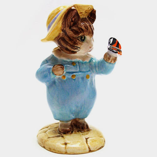 Royal Albert Beatrix Potter Figurine - Tom Kitten and Butterfly (Boxed)
